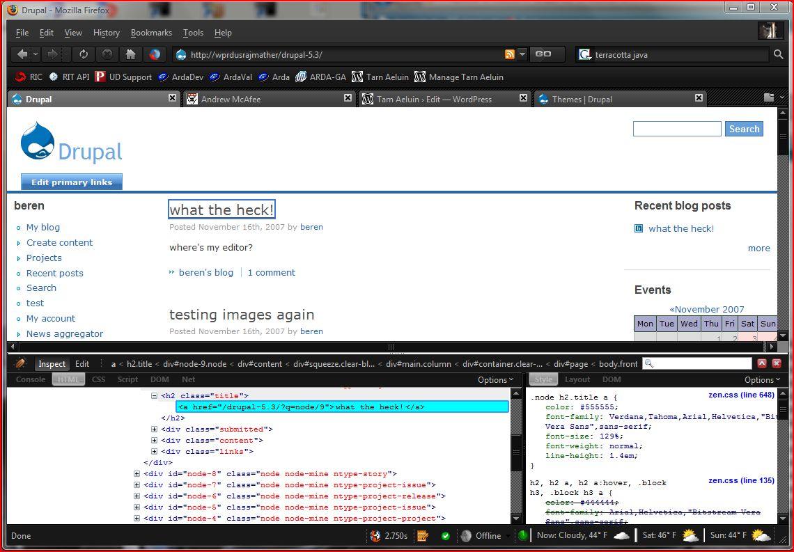 Firebug CSS Inspection