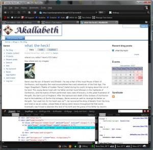 Drupal Theme - Admin Controls