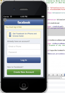 Login with FB SDK