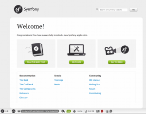 Symfony2 Config Screen