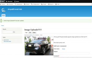 Upload an image in Drupal 8