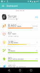 Fitbit Surge HR Mobile Dashboard