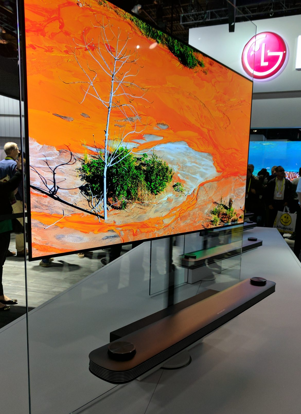 LG Wallpaper TV Front