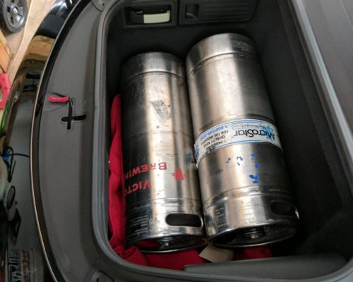 Boxster Frunk with Beer